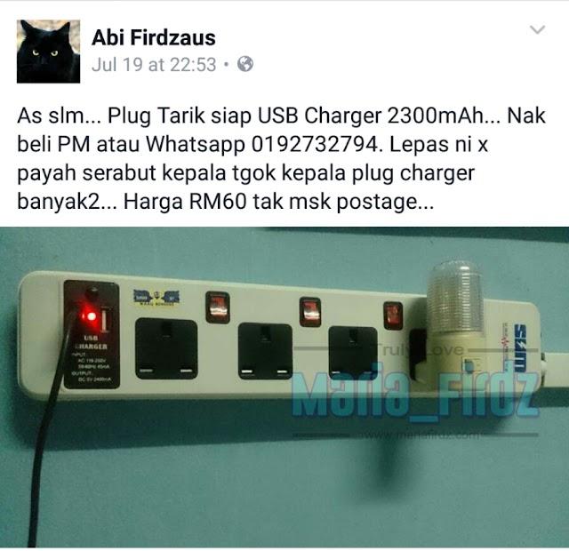 Soket Plug Siap USB
