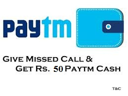 Loot Lo) Just Missed Call Rs 50 Free PayTM/Cash - ALL-TIME-FREE