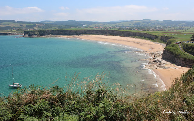Playa Grande y Pequeña de Langre. Acantilados de Langre. Ribamontán al Mar. Cantabria