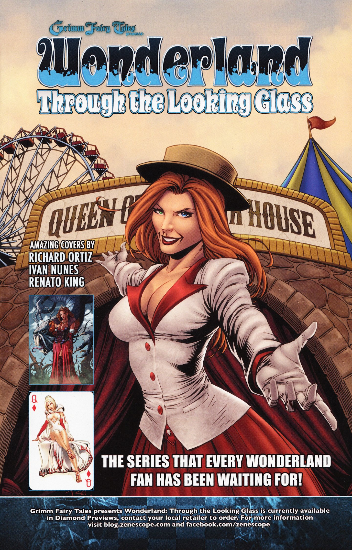 8A cover ~ Zenescope comic Grimm Fairy Tales Presents Wonderland #8