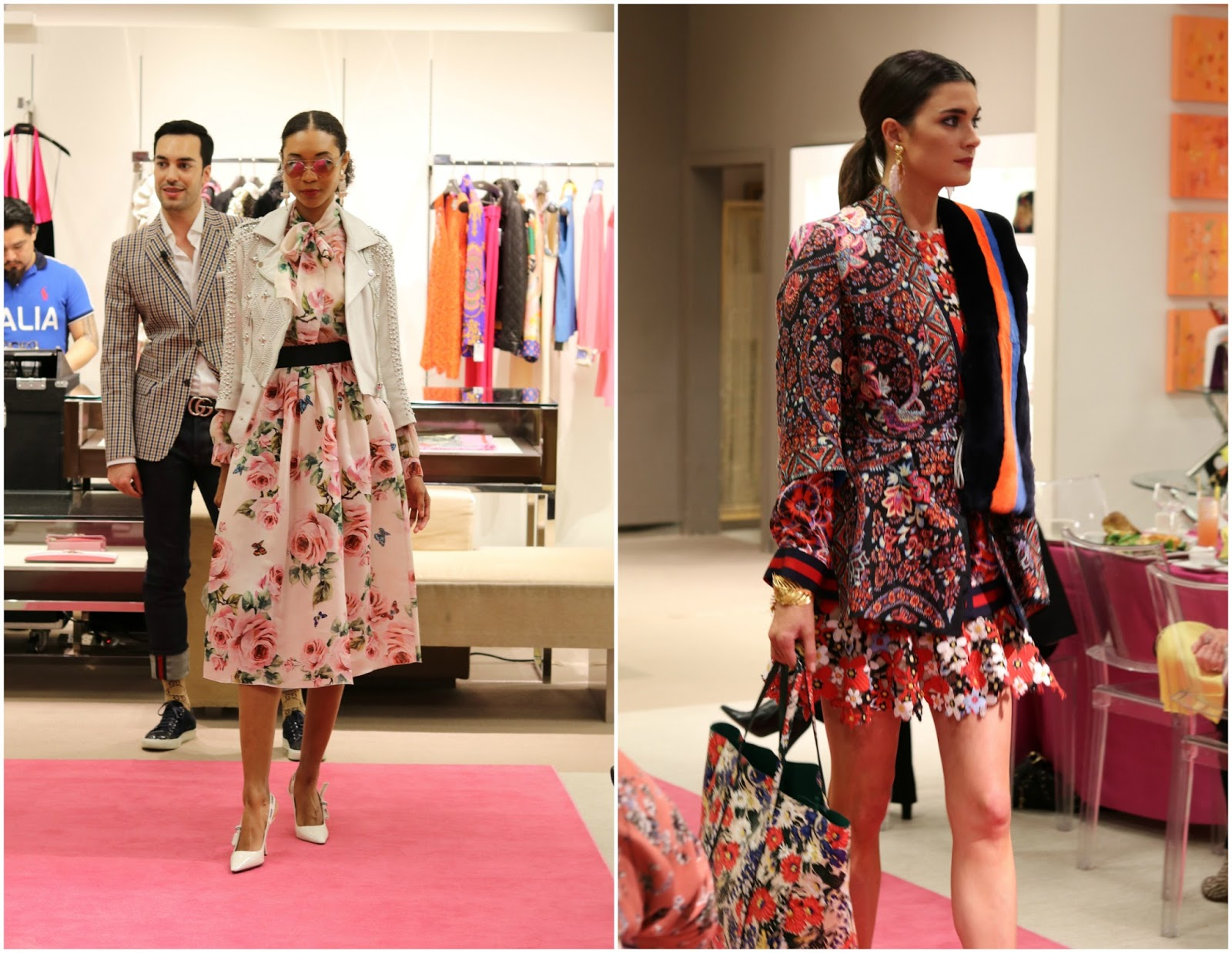 Spring 2018 Floral Trend with Neiman Marcus, pastel florals at neiman marcus, bright floral trend