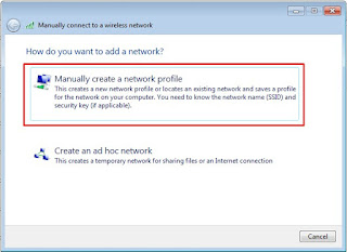membuat wireless network secara manual