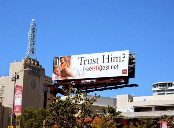 Trust Him HIV billboard