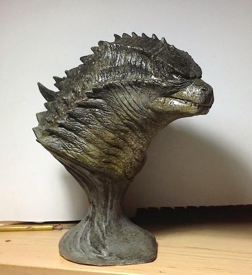 godzilla 1989 statue - 881×960