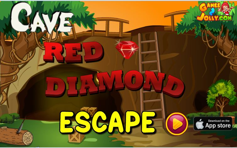 Cave Red Diamond Escape