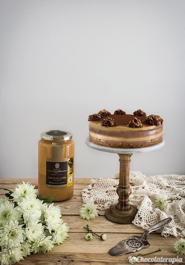 tarta-capas-chocolate-turrón-sin-horno-chocolaterapia