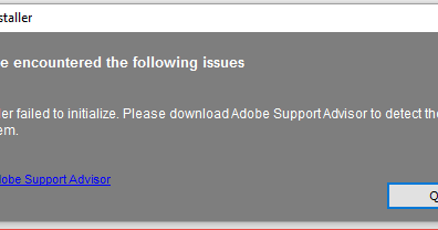 Re: CS6 - Installer failed to initialize. Please download