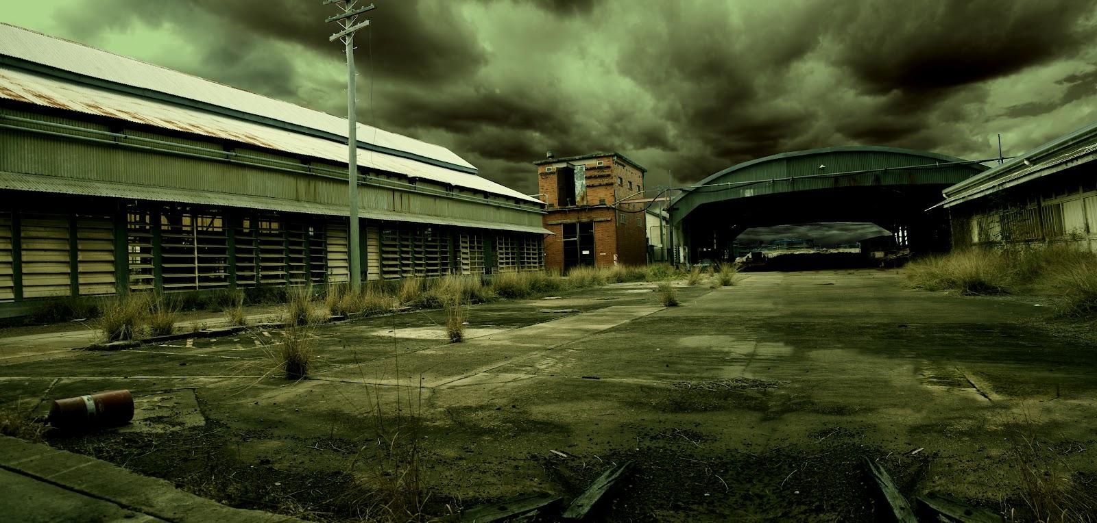 plain car garage ideas - Abandoned train yard
