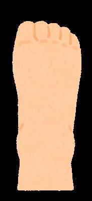 足ジャンケンのイラスト(グー・足の甲)
