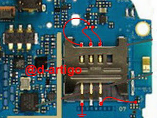 Samsung Mobile Phone Insert sim Chack This Line Use AVO Miter and Re connect this line use copper coil. This is samsung gti5503 insert sim problem solution. if your sim ic is broken make this jumpper. you can solve your problem easily.
