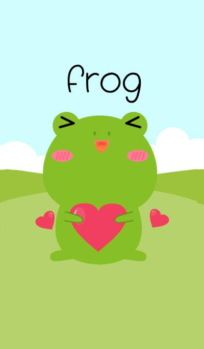 Simple Love Cute Frog Theme