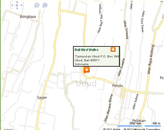 Bali Bird Walks Ubud Location Map,Location Map of Bali Bird Walks Ubud,Bali Bird Walks Ubud Accommodation Destinations Attractions Hotels Map Photos Pictures