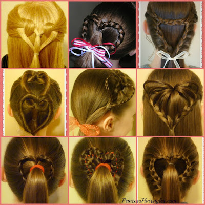 9 Valentines Day hairstyles! Heart hairstyle video tutorials. #valentines #hearthairstyles
