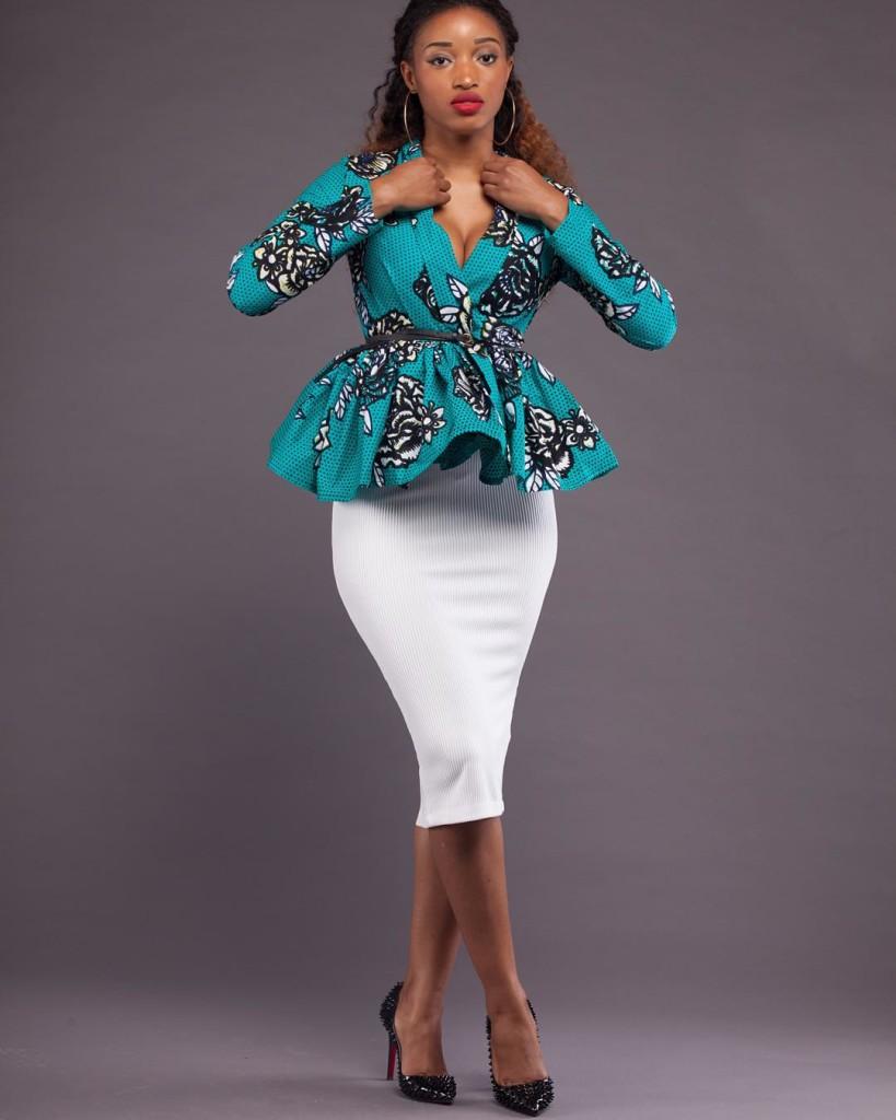 Sandra Spicy Aso Ebi Friday With Style Focus On Ankara Jacket