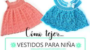 Cómo tejer vestidos para niñas a crochet / 2 tutoriales