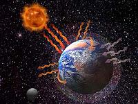 Dünya'nın sera etkisiyle ısınmasını anlatan bir görsel