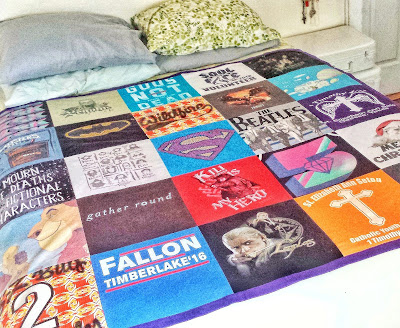 refabulous fabric fast, no buying fabric in 2018, handmade t-shirt quilt