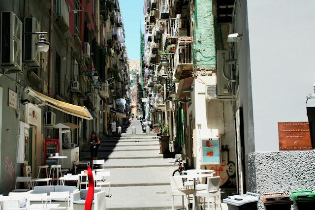 scale, tavolini, stada, centro, Napoli