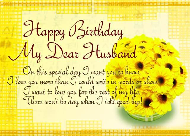 Birthday Message My Husband