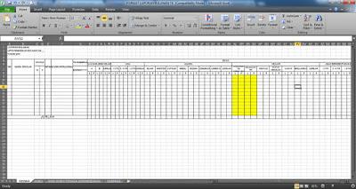 Format Laporan Bulanan TK dengan File Microsoft Office Excel