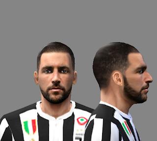 PES 6 Gonzalo Higuain (Juventus) Face 2017-18