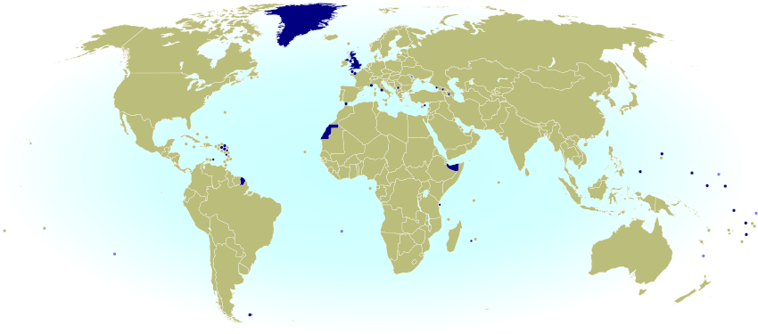 World cup 2014 which countries are and arent members of fifa dark blue national team not recognized by fifa light blue no known national team map by evan centanni from public domain base map gumiabroncs Choice Image