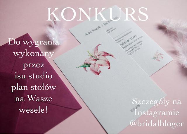 Minimalistyczne zaproszenia ślubne od isu studio z motywem kwiatowym - grafika konkursowa.