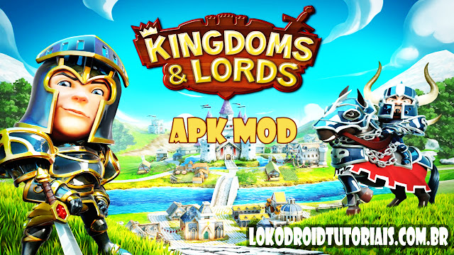 kingdoms e lords APK MOD Gemas infinita