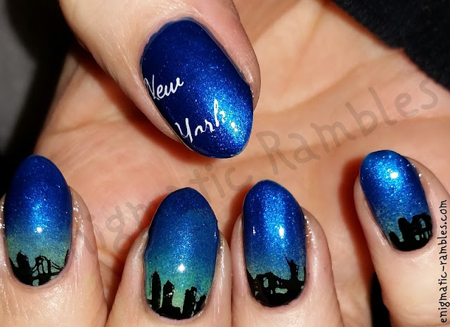 New-York-Stamped-Skyline-Nails-Nail-Art-MoYou404-MoYou-404