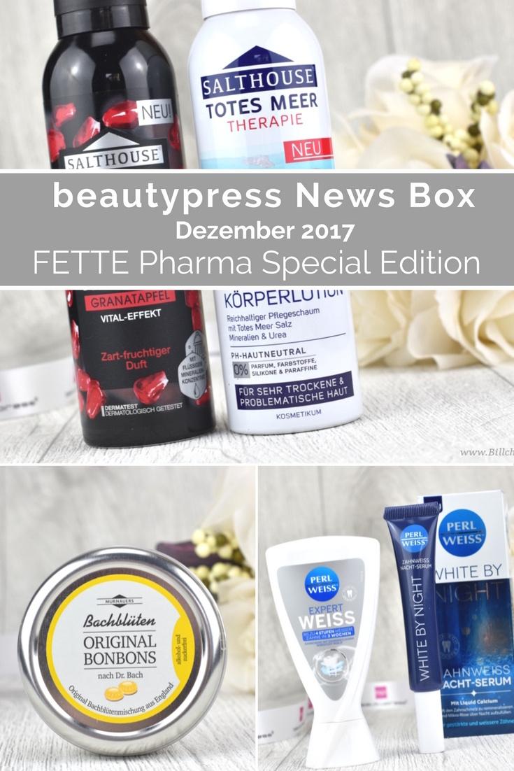 Unboxing und Inhalt der beautypress News Box Dezember 2017 - Special Edition mit FETTE Pharma Gruppe