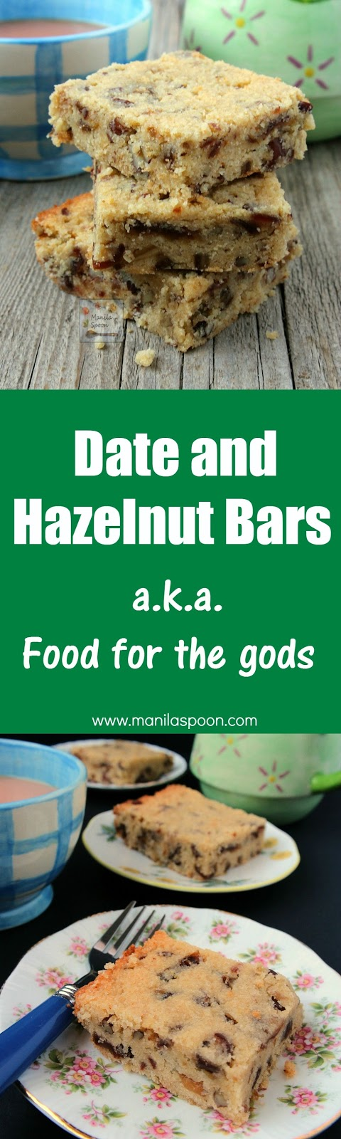 "Known locally as ""food for the gods"" this is a holiday-perfect bar that's rich, buttery, nutty and totally delicious! Use walnut, pecan, hazelnut or even cashews for the nuts. Regular and gluten-free option available. 
