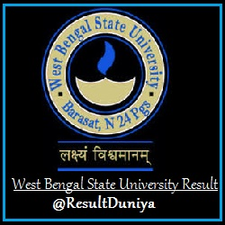Barasat University BA BSc BCom Honours General Result