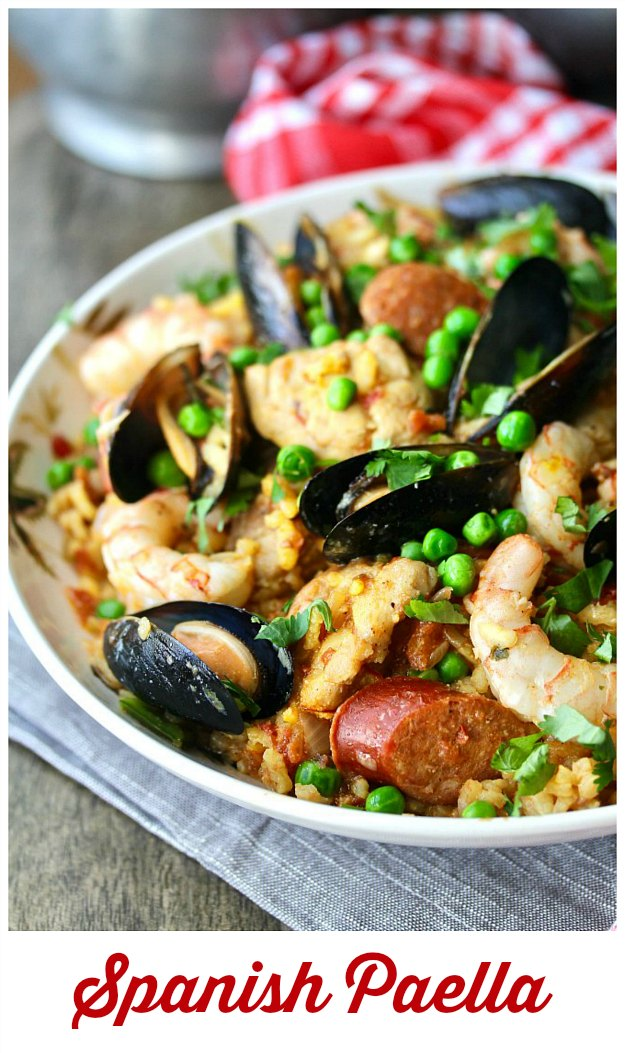 Paella with Shrimp, Chorizo, Chicken, and Mussels