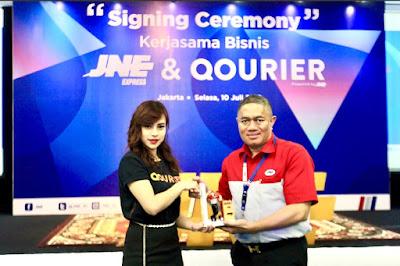 Kolaborasi JNE Dan QOURIER Menghadirkan Qourier Powered By JNE, Sebuah Layanan Kurir Instan
