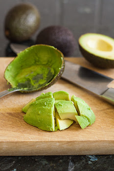Isječen avokado na kockice