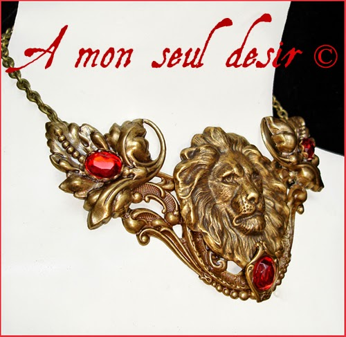 Game of Thrones Cersei Tyrion House Lannister Necklace Lion Medieval Renaissance Jewellery Hear me Roar