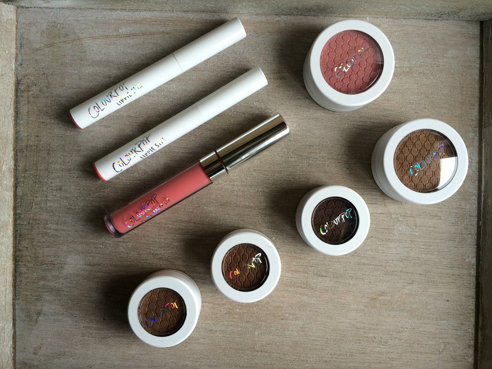 ColourPop haul UK lumiere lippie stix super shock shadows ultra matte