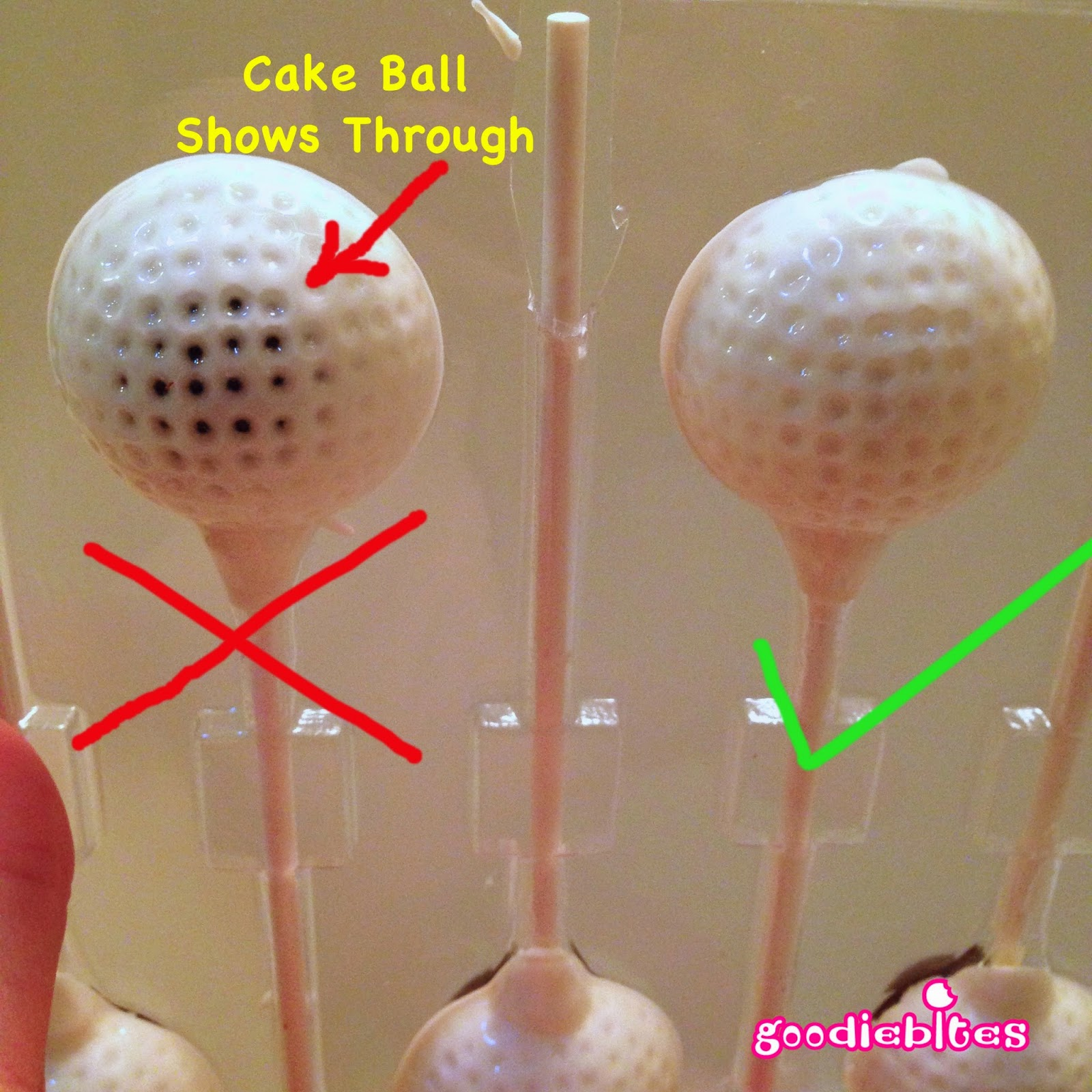 how to make golf ball cake pops pint sized baker. Black Bedroom Furniture Sets. Home Design Ideas