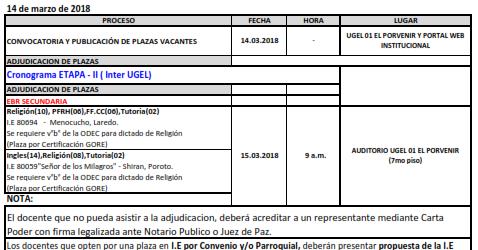 Convocatoria y publicaci n de plazas para contrato for Convocatoria de plazas docentes 2017