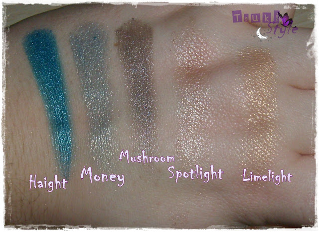 Paleta Mariposa Urban Decay, swatches