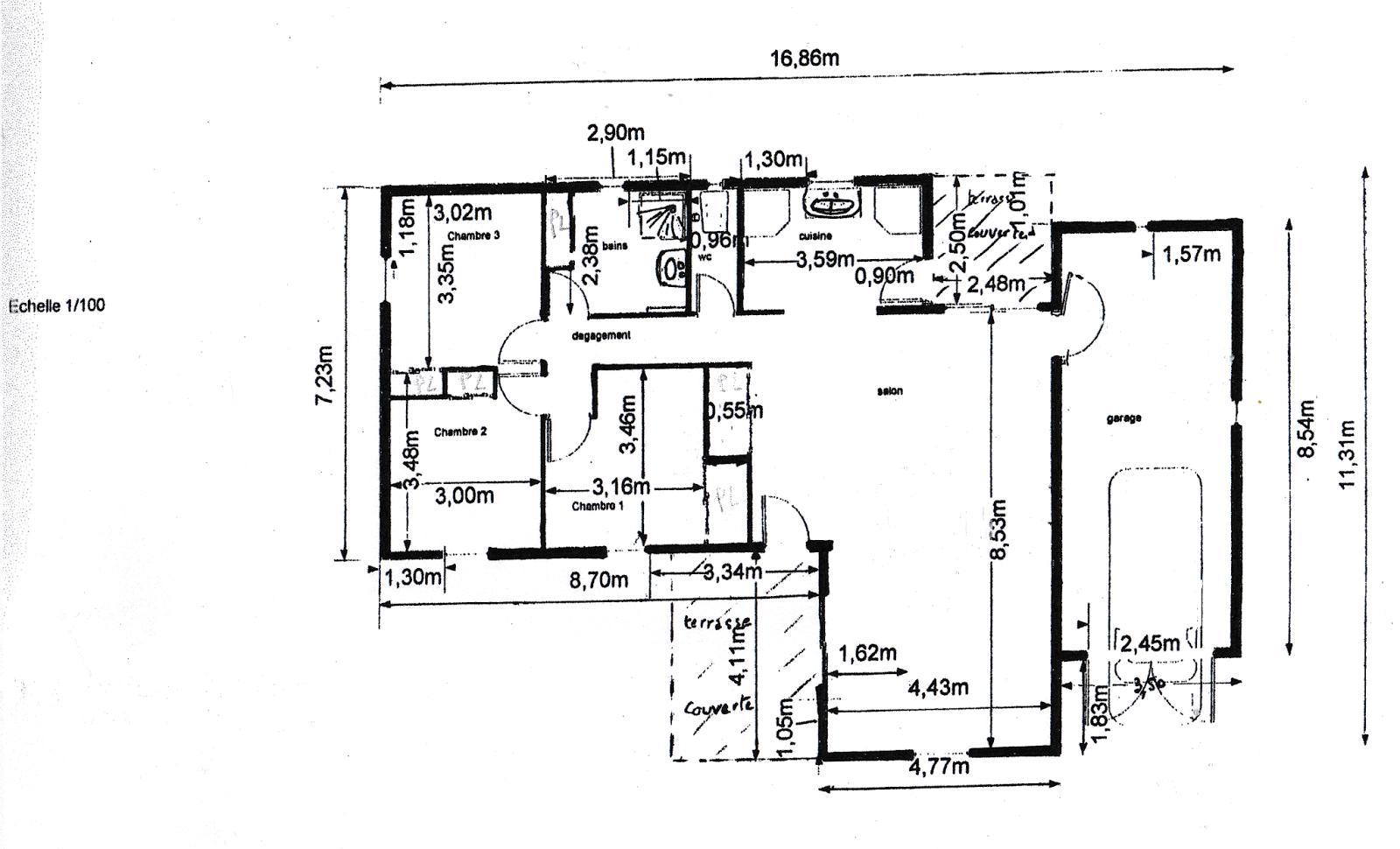 Vendu villa a peipin sisteron sud 04200 plan maison de for Plan maison sud est