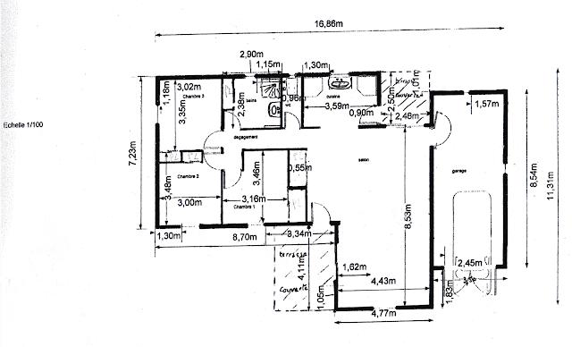 Vendu villa a peipin sisteron sud 04200 plan maison de - Plan maison sud ouest ...