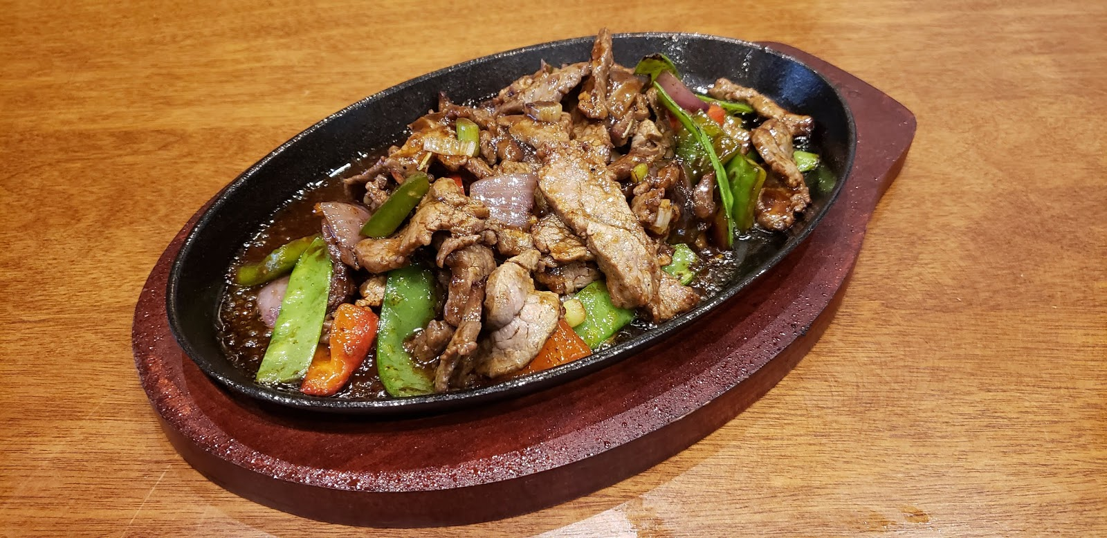 Sizzling Beef in Black Pepper Sauce