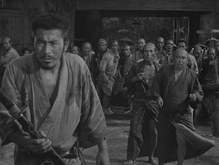 Toshiro Mifune in Seven Samurai, aka Shichinin no samurai, directed by Akira Kurosawa