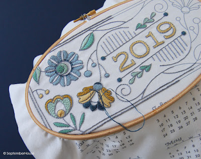 2019 DIY Fabric Calendars for hand embroidery by SeptemberHouse