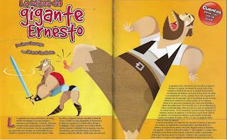 La odisea del gigante Ernesto, publicado en Billiken