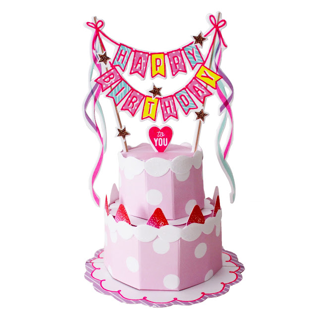 Happy Birthday Layered Cake Pop Up Decorative Greeting Card