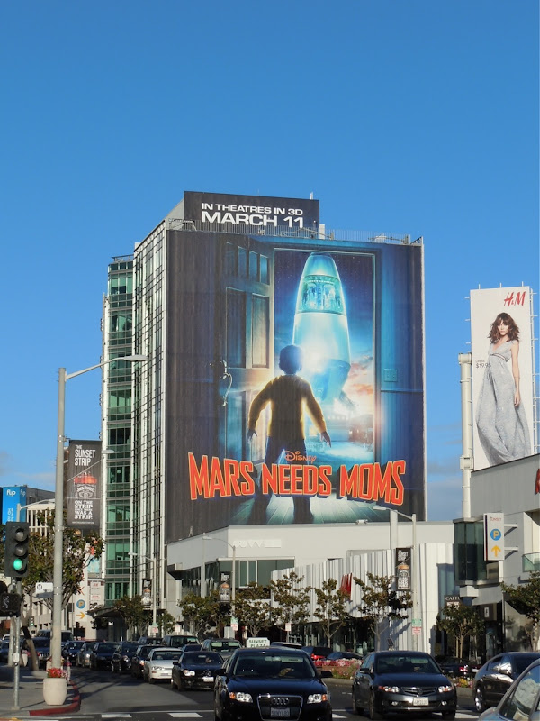 Mars Needs Moms Sunset Strip billboard