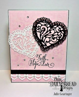 Our Daily Bread Designs Stamp Set: Let Love Grow, Our Daily Bread Designs Custom Dies:Tulip Heart, Layering Hearts, Deco Border, Pierced Rectangles