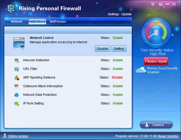 Rising Personal Firewall Download Free